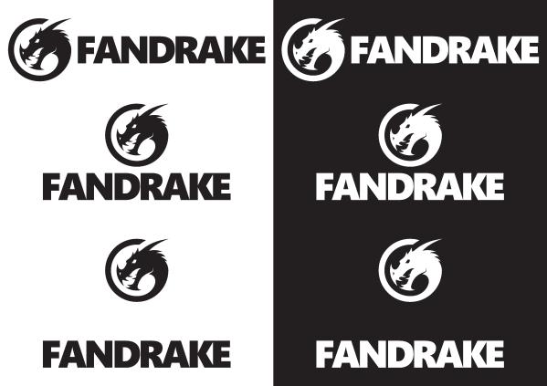 Fandrake-logotypen och hur den används.